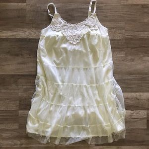 Xhilaration white/cream lace dress small S